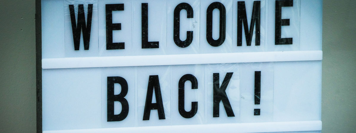 stockphoto letter sign text welcome back